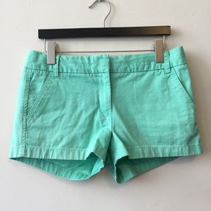 J Crew Size 8 Shorts Green Broken In Chino
